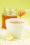 Té de la miel con el limón imagenes de archivo