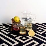 Té de la miel del limón para sano Foto de archivo