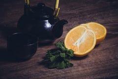 Té de la naranja y de la menta Imagenes de archivo