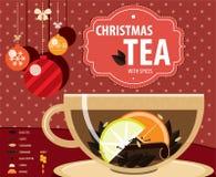 Té de la Navidad ilustración del vector