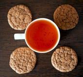 Té de Rooibos y algunas galletas Imagen de archivo libre de regalías