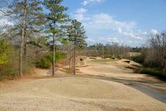 Té de terrain de golf hors fonction Image libre de droits