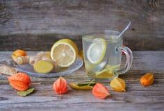 Té del jengibre con el limón y la miel Imagen de archivo libre de regalías