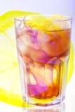 Té del limón del hielo Foto de archivo libre de regalías