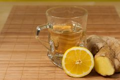 Té del limón del jengibre Imagenes de archivo