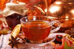 Té del otoño con las especias y la miel Imagen de archivo