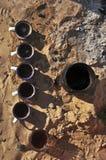 Té en Sáhara Imagenes de archivo