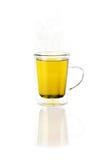Té en una taza o una taza de cristal Fotografía de archivo