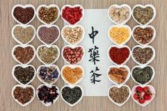 Té herbario chino Foto de archivo libre de regalías