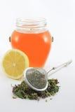 Té herbario con el limón y la miel Foto de archivo libre de regalías
