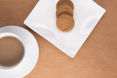 Té inglés con las galletas Fotografía de archivo libre de regalías