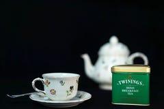 Té irlandés del desayuno de Twinings Imagenes de archivo
