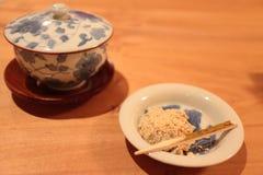 Té japonés con Wagashi Imagenes de archivo