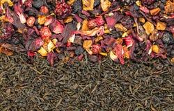 Té negro, té de la fruta Fotografía de archivo libre de regalías
