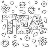 Té Página que colorea Ilustración del vector Fotografía de archivo