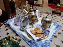 Té para el estilo de dos marroquíes Foto de archivo libre de regalías