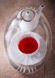 Té rojo de la fruta Fotografía de archivo