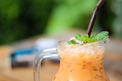 Té tailandés de la leche Imágenes de archivo libres de regalías