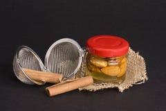 Té, tamiz del té Fotografía de archivo libre de regalías