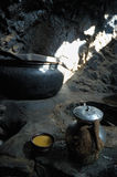 Té tibetano de la sal imágenes de archivo libres de regalías