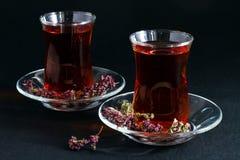 Té turco en negro Fotografía de archivo libre de regalías