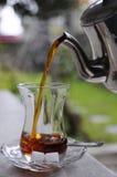Té turco - té negro Foto de archivo libre de regalías