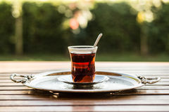 Té turco tradicional Fotos de archivo libres de regalías