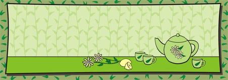 Té verde stock de ilustración