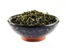 Té verde chino en taza de té fotos de archivo libres de regalías