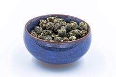 Té verde chino Jasmine Pearl Foto de archivo