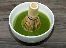 Té verde de Matcha Fotos de archivo libres de regalías