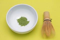 Té verde de Matcha Imágenes de archivo libres de regalías