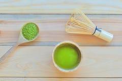 Té verde de Matcha Fotos de archivo