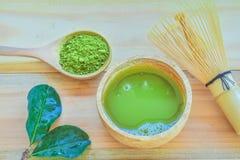 Té verde de Matcha Imagenes de archivo