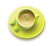 Té verde orgánico Fotos de archivo libres de regalías
