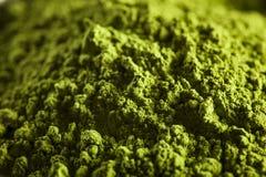 Té verde orgánico crudo de Matcha fotos de archivo libres de regalías
