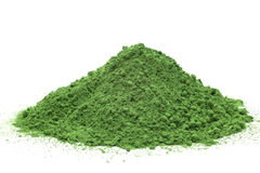 Té verde pulverizado Imágenes de archivo libres de regalías