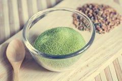 Té verde pulverizado Foto de archivo libre de regalías