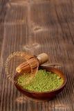 Té verde pulverizado del matcha fotografía de archivo libre de regalías