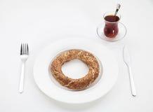 Té y anillo Imagen de archivo libre de regalías