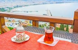 Té y café turcos en Alanya Fotos de archivo libres de regalías
