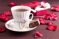 Té y chocolate Fotos de archivo libres de regalías