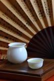 Té y conjunto de té chinos Fotografía de archivo libre de regalías