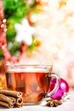 Té y especias de la Navidad Fotos de archivo