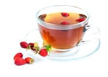 Té y fresas salvajes Foto de archivo