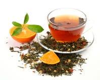 Té y fruta Fotografía de archivo libre de regalías