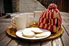 Té y galletas Foto de archivo libre de regalías