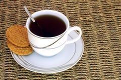 Té y galletas fotos de archivo libres de regalías