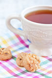 Té y galletas Fotografía de archivo libre de regalías