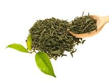 Té y hojas. Fotos de archivo